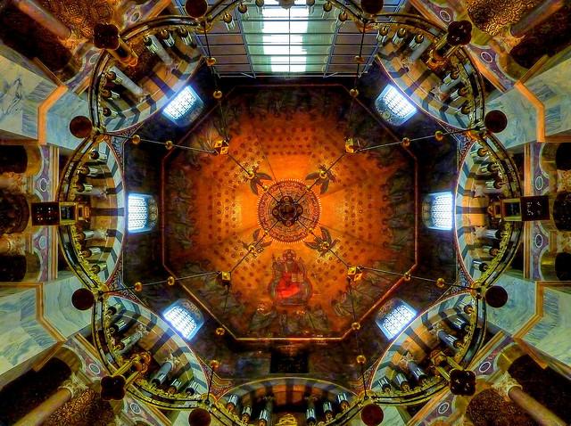 Катедралата в Аахен - интериор купол