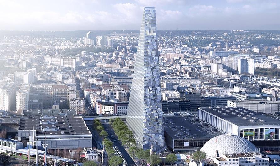 Новата триъгълна кула на Париж