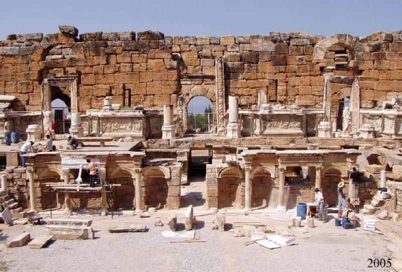 Restoration works in Hierapolis
