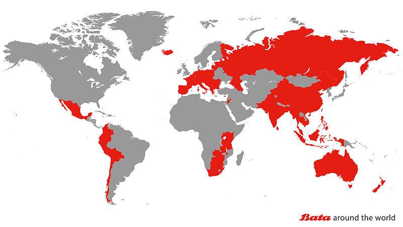 """""""Бата"""" по света (в червено)"""