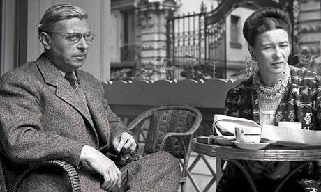 Jean-Paul Sartre et Simone de Beauvoir aux Deux Magots