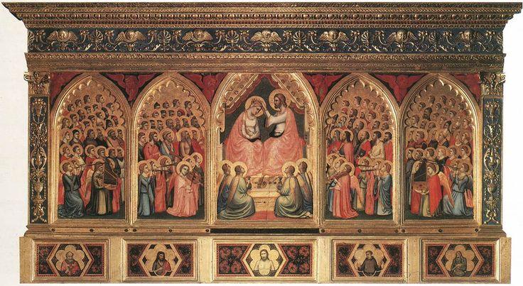 Giotto di Bondone Baroncelli Polyptych 1334 Baroncelli Chapel, Santa Croce