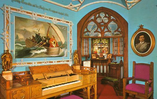Hohenschwangau Music Room - Wagner Piano - Ludwig
