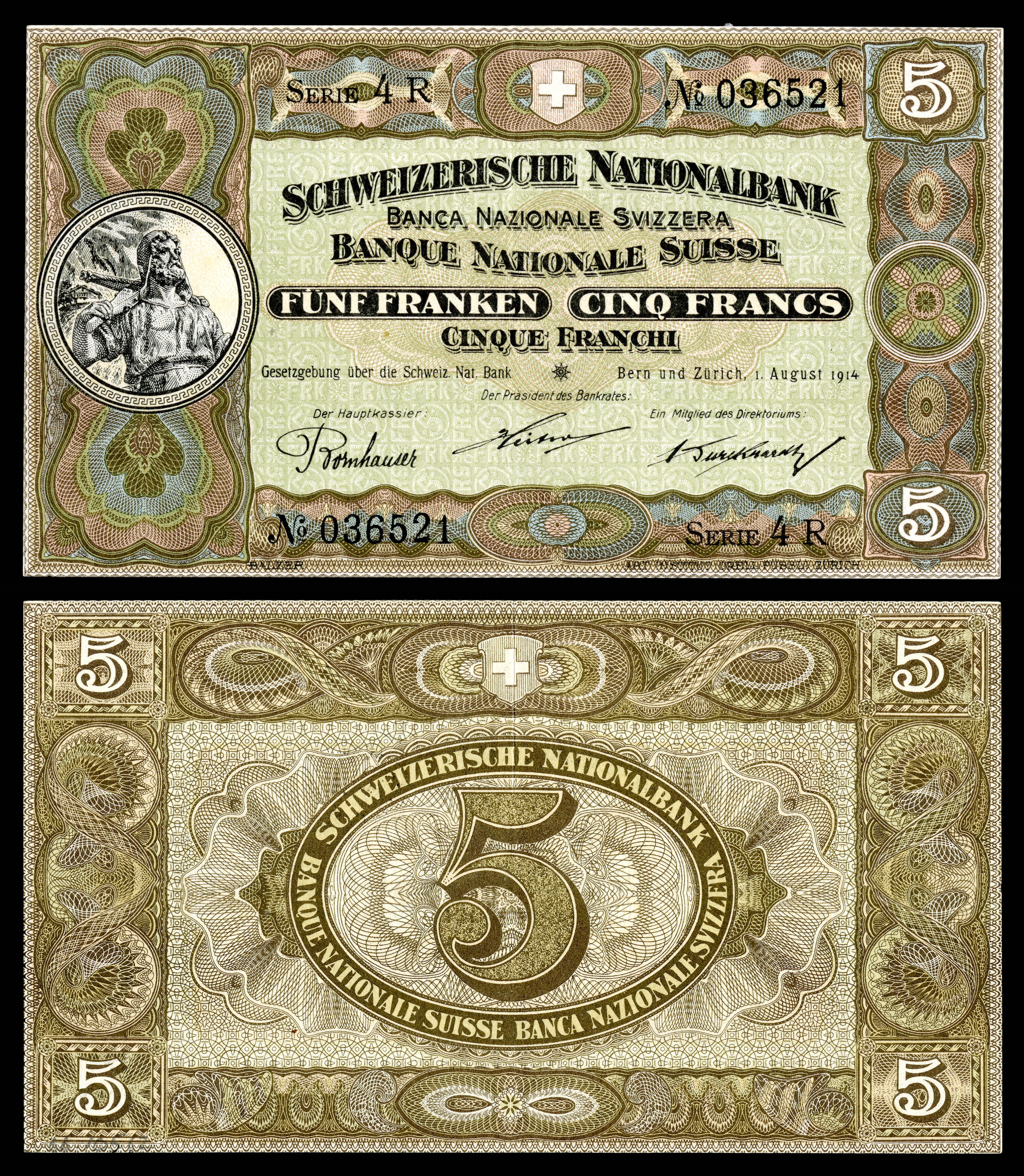 SWI-11b-Confederation_Schweizerische_Nationalbank-5_Franken_(1914)