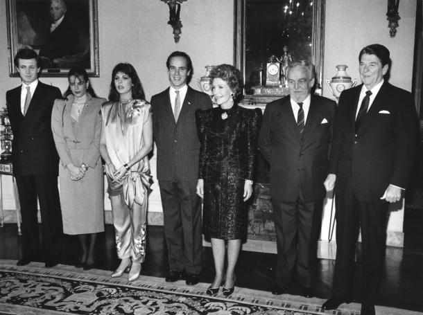 President-and-Mrs-Reagan-hosts-Monaco-Royal-family-at-White-House