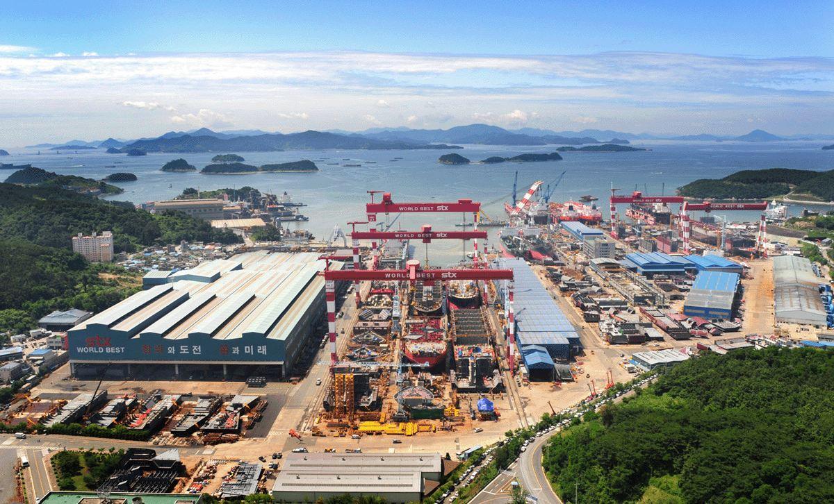STX shipyard jinhae