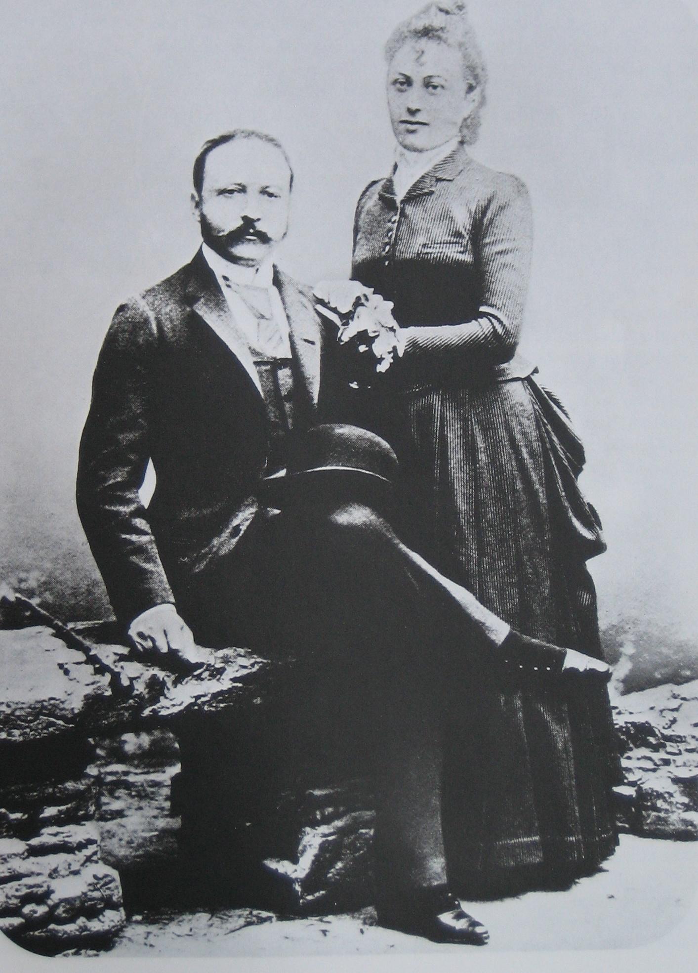 Сезар Риц с Мари-Луиз Риц