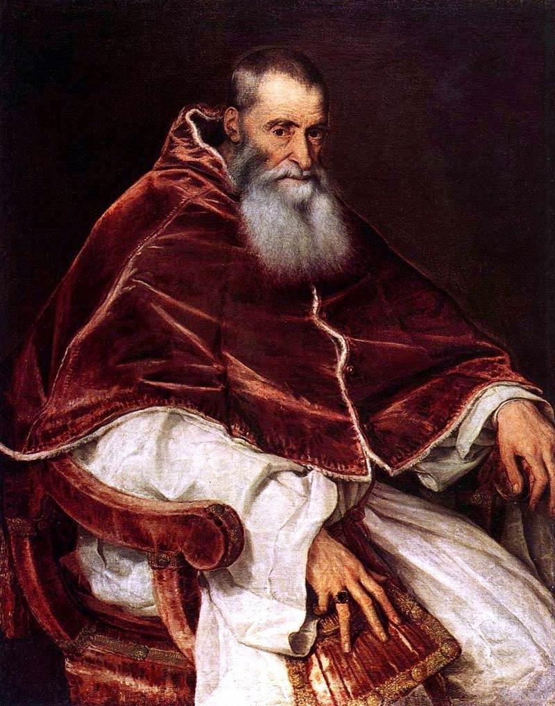 Портрет на папа Павел III, дело на Тициан