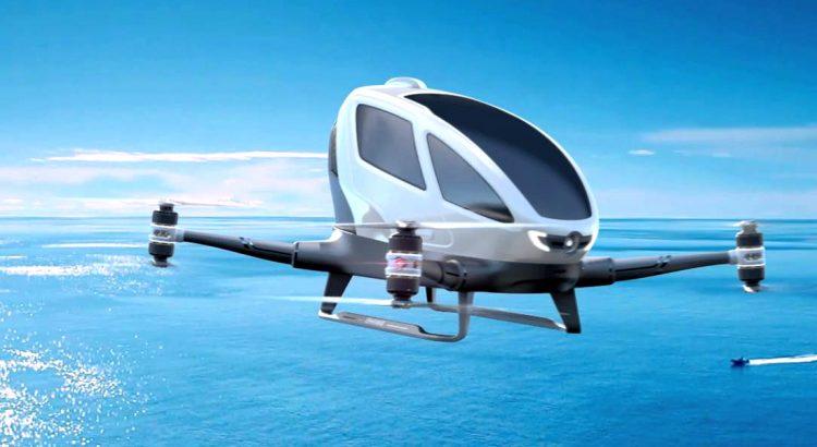 Китайски едноместни дронове ще летят в Дубай