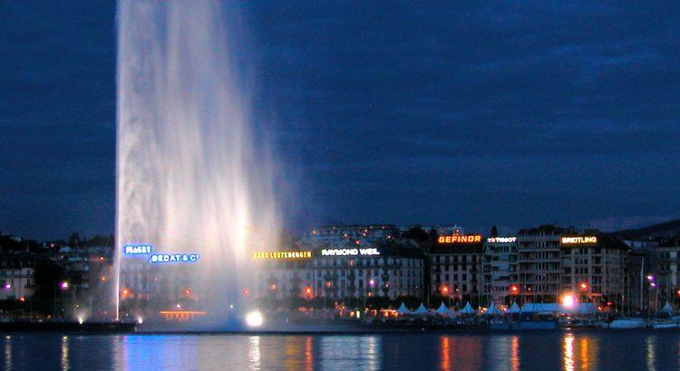 Фонтанът в Женевското езеро