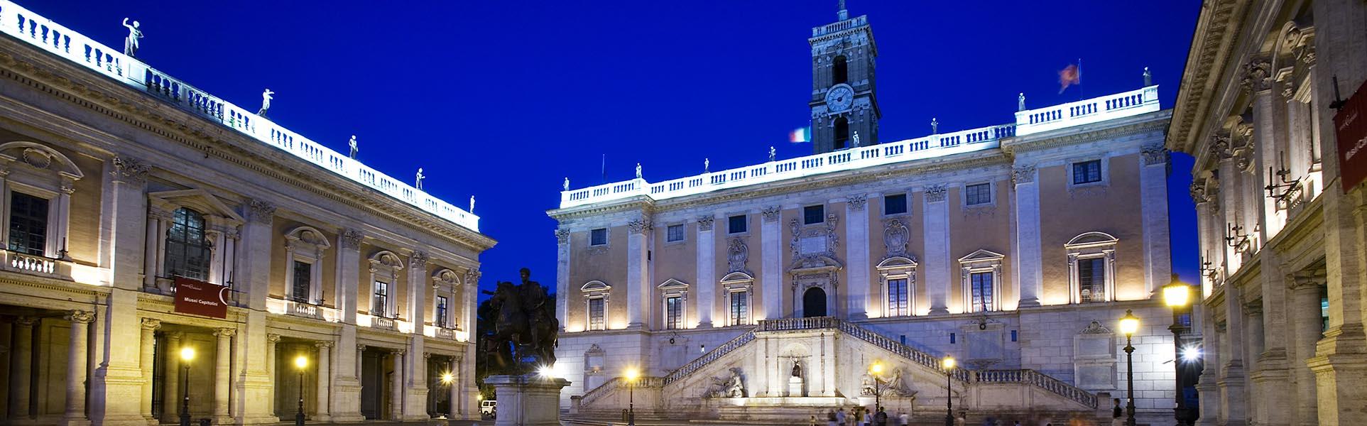 Piazza del Campidoglio or Campidoglio square. Rome, Italy
