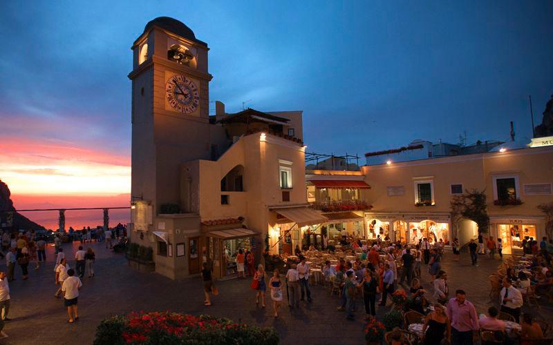 Централния площад на Капри