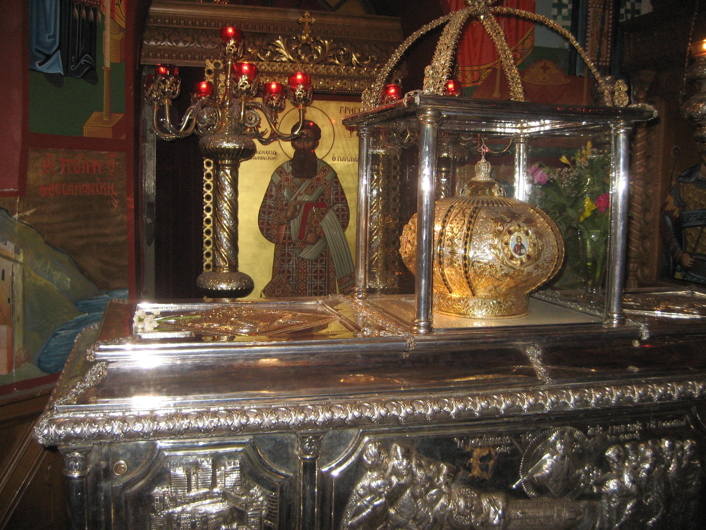 Сребърният ковчег на Св. Спиридон