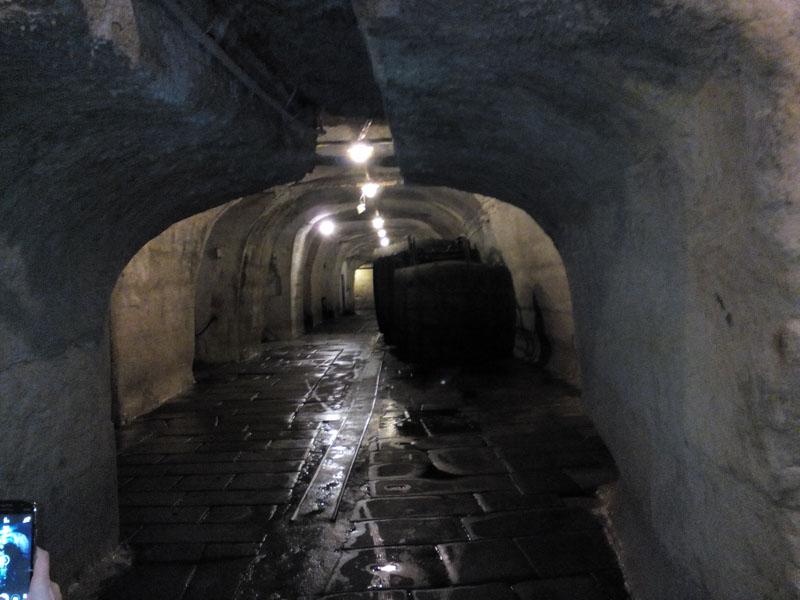 Подземията, където се е съхранявала готовата бира.