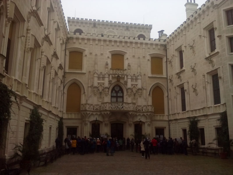 Входът на замъка Хлубока