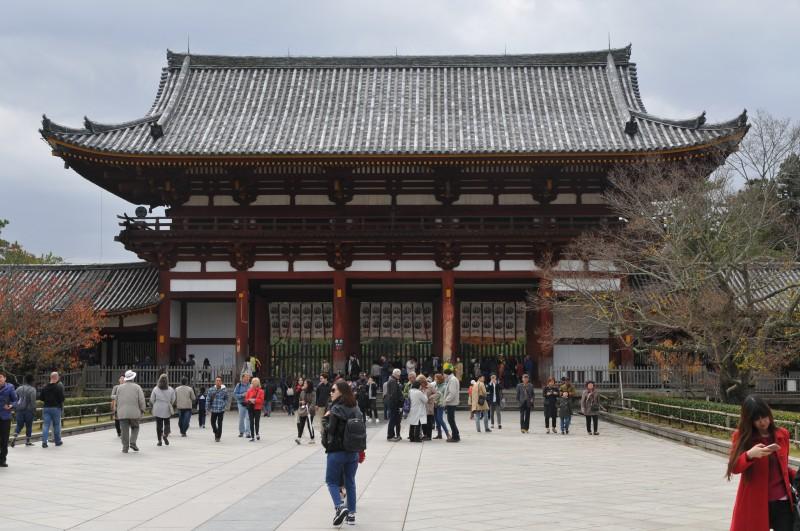 """Град Нара, портата на храма """"Тодайджи"""""""