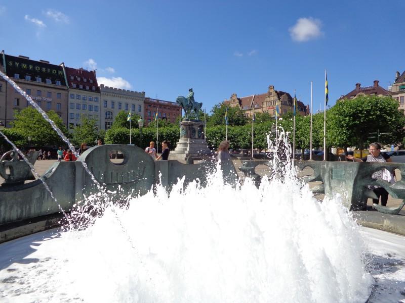 В центъра на Малмьо - Швеция