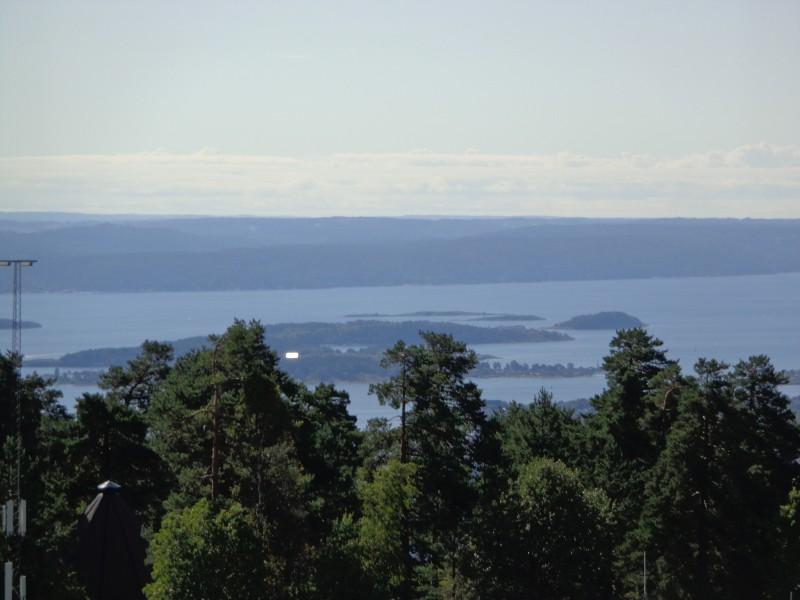 Осло фиорд, гледан от ски шанцата Холменколен