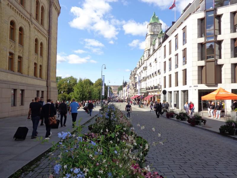 "Централният булевард ""Карл Юхан"" в Осло"