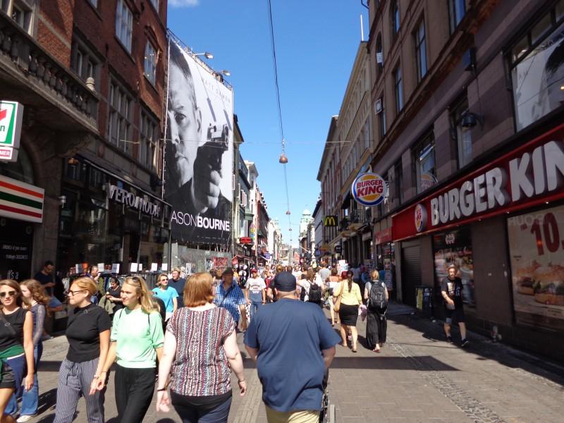 """По основната пешеходна улица в Копенхаген - """"Строгет"""""""