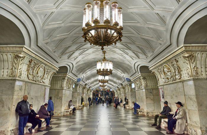 Най-зашеметяващите метростанции в Москва - 9
