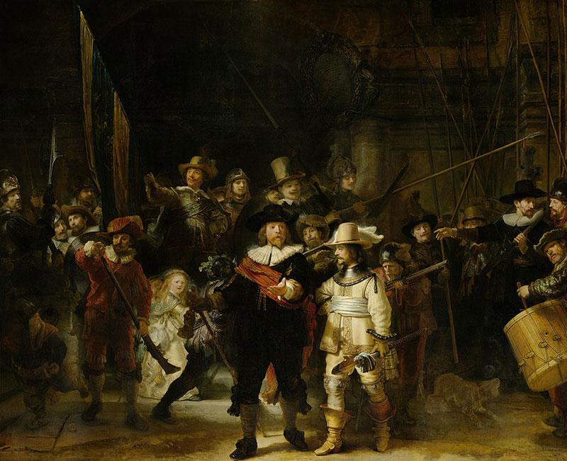 """Рембранд и реставрирането на неговата """"Нощна стража"""" 1"""